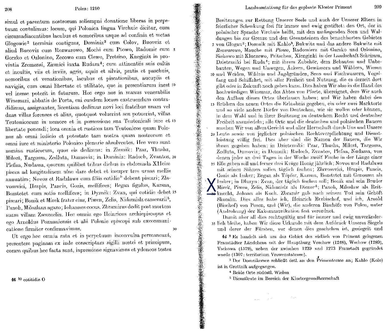 Urkunden und erzählende Quellen/Zisterzienser