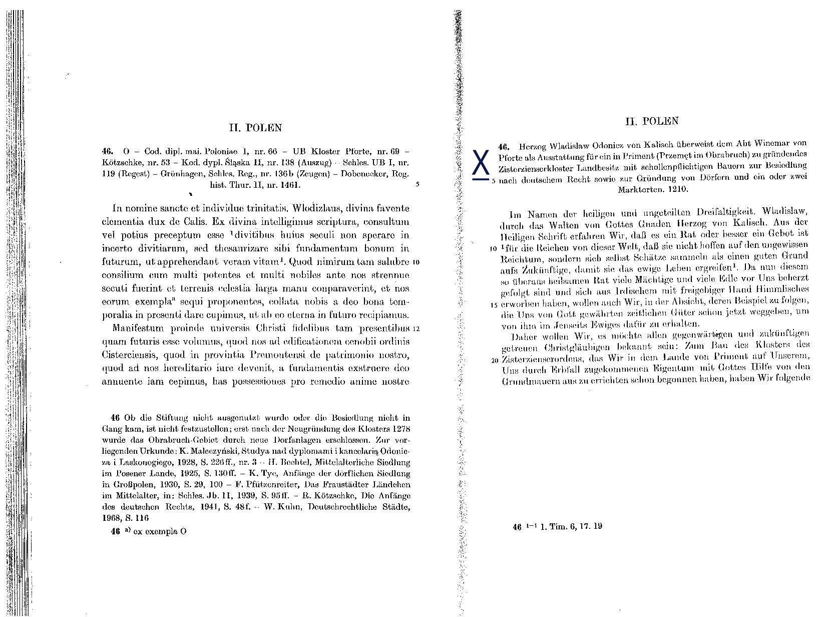 Zisterzienserorden in Primen/Schlesien